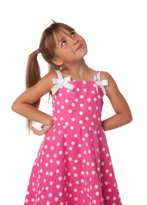 Rosa barnklänning